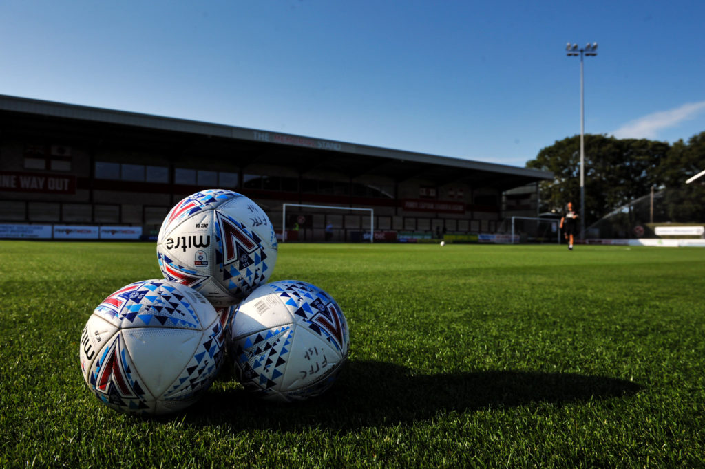 Fleetwood Town footballs during the 2018/19 Pre Season Friendly match between Fleetwood Town and Burnley at Highbury Stadium, Fleetwood, England on 23 July 2019. Photo by Stephen Buckley / PRiME Media Images